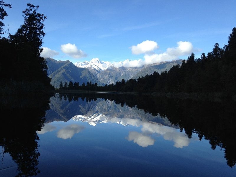 Double view of Mount Cook.