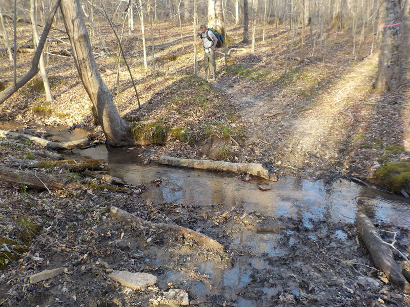 This creek crossing can get quite muddy!