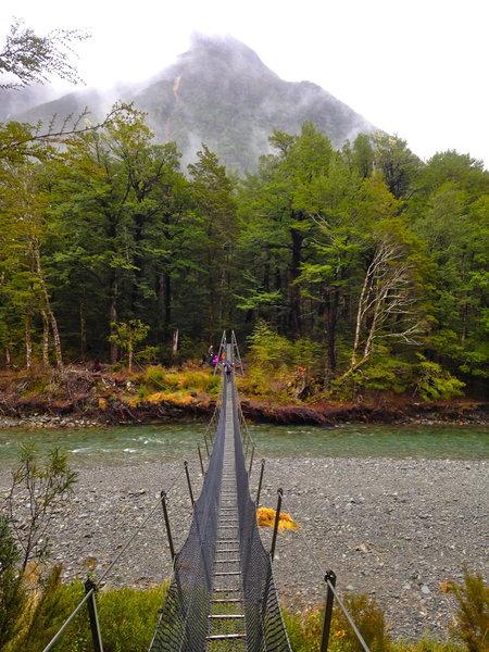 Navigate this narrow bridge crossing on the Lakehead Track.