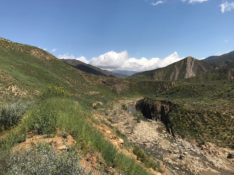 Enjoy great views on the way to Willett along the Sespe River Trail.