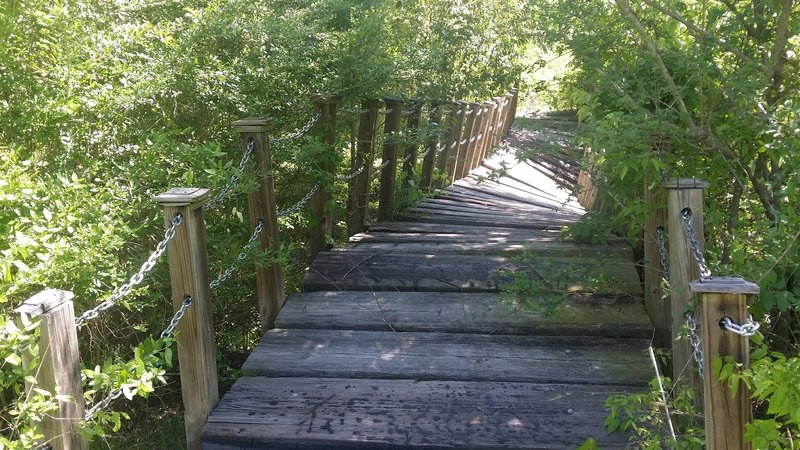 When you get to this spot, your eyes aren't failing you –the bridge is severely damaged!