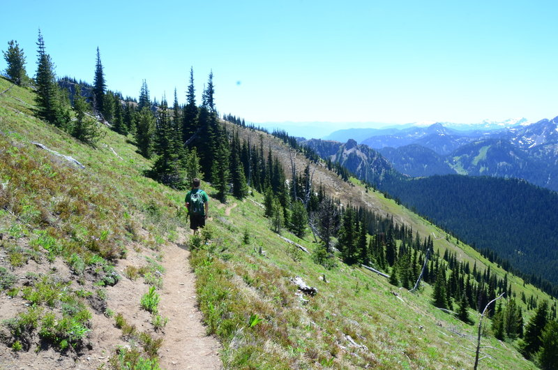 Gorgeous views of Rainier and the Southern Cascades await you on the Crystal Peak Trail.