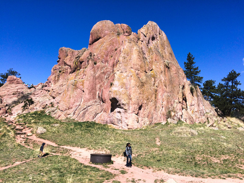 Hike around or scramble over the Red Rocks for a fun time!