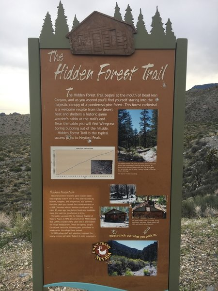 At the trailhead is a nice piece with info and the history of the trail.