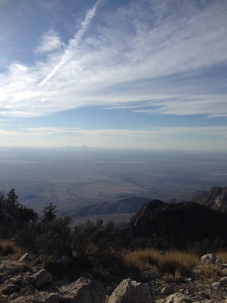 Enjoy great views from Guadalupe Peak!