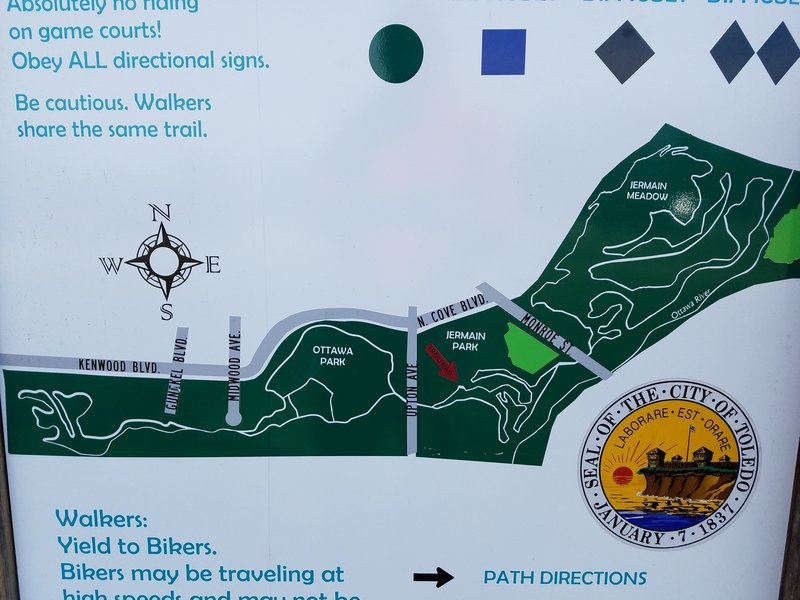 The map is posted at the trailhead.