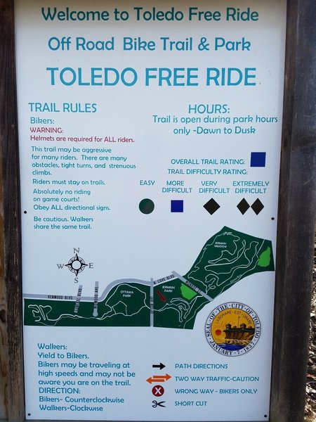 This board both greets and informs you at the trailhead.