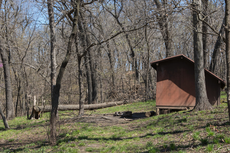 This is one of the Adirondack shelters in Indian Cave State Park.