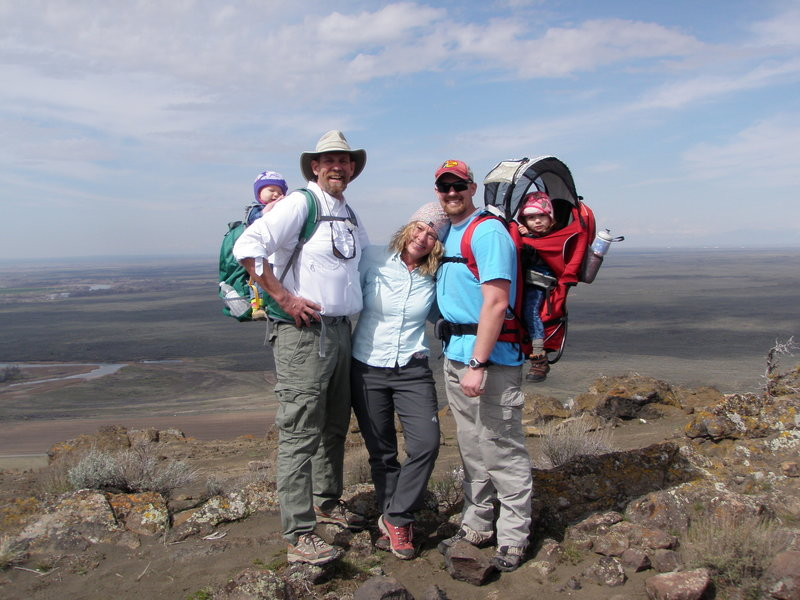 It was all smiles just after reaching the rim of the North Menan Butte.