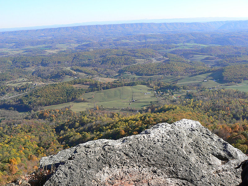 Enjoy awesome views from the rocky overlook points on the AT.