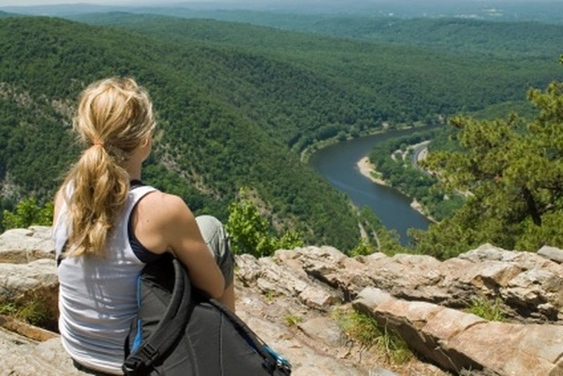 Angel's Rest is the perfect place to take in views of the area.