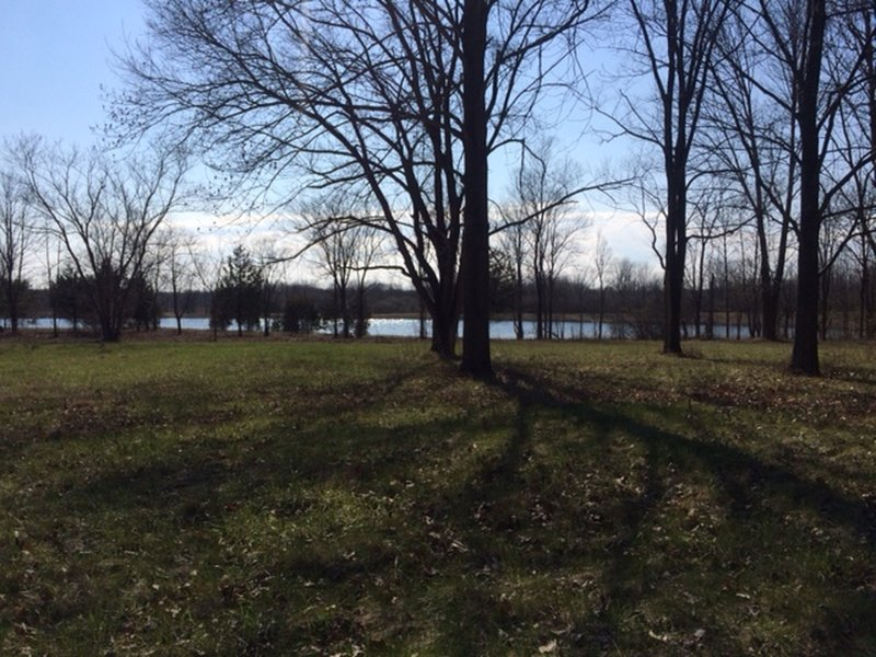 Possum Creek Blue Trail offers a great view of Argonne Lake.