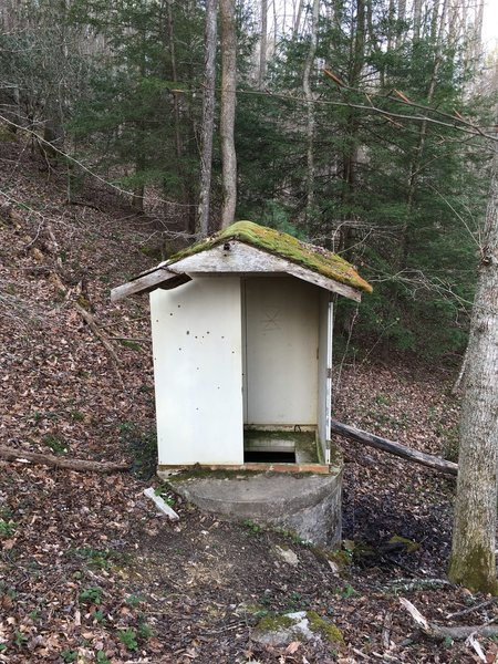 This is all that remains of the old spring pumphouse on Raven Rock Road.