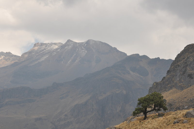 Enjoy panoramic views of Iztacihuatl from the trail.