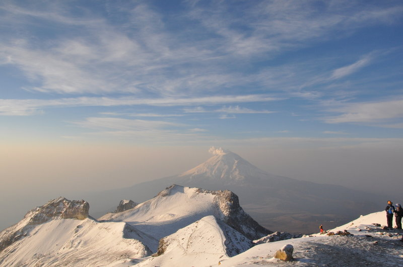 The summit offers a phenomenal view of nearby Popocatepetl.
