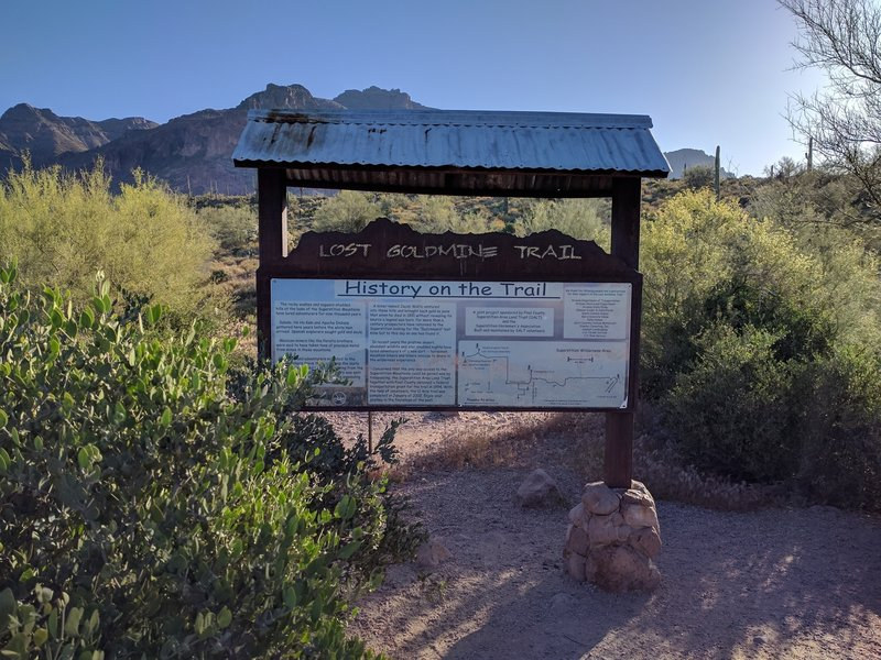 This trailhead kiosk gives you a quick history of the area.