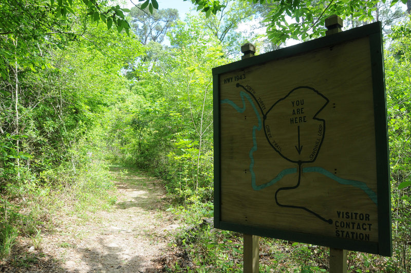 Great signs make navigating easy in the Big Thicket National Preserve.
