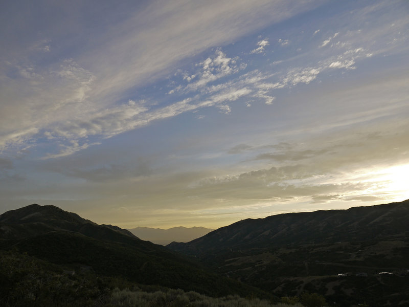 Emigration Canyon is quite beautiful as the sun begins to set.