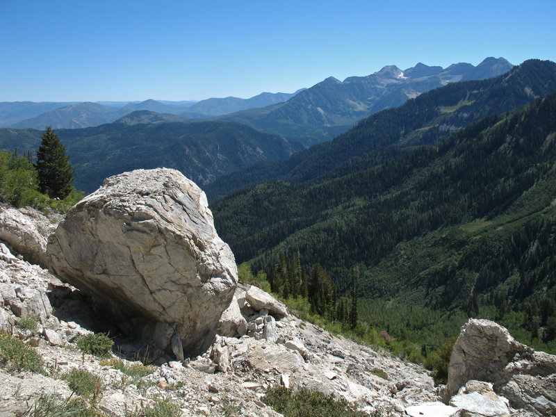 Enjoy great views to the east from halfway up the trail.