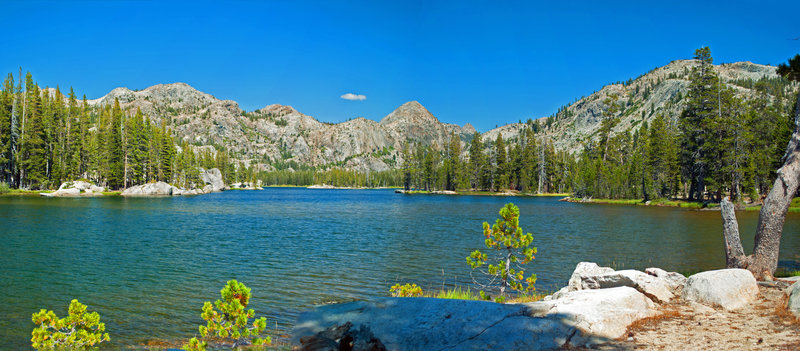 Huckleberry Lake is stunning from the southeast shore and offers fantastic swimming!