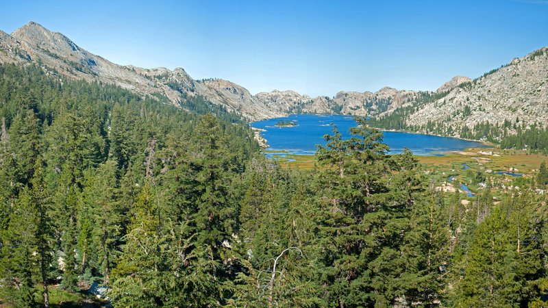 Emigrant Lake is a beautiful sight from the Huckleberry Trail.