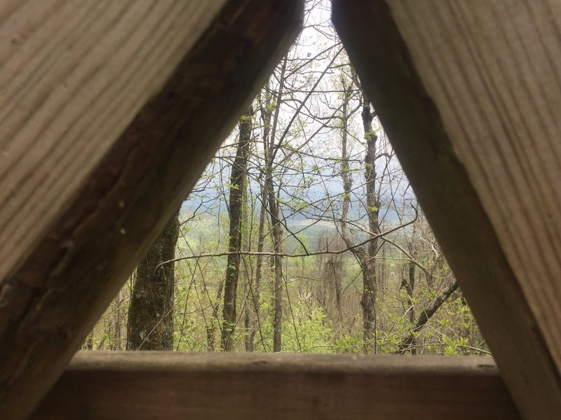 A peek of the Black Fork Mountain from the bridge.