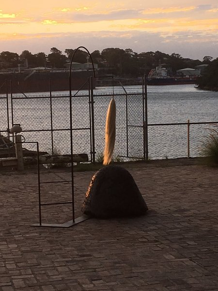 Sculptures adorn the Foreshore.