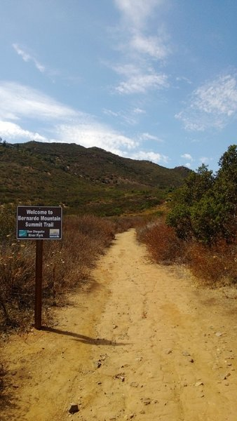 At the bottom of the Bernardo Mountain Summit Trail, you get a good view of what you're about to conquer!