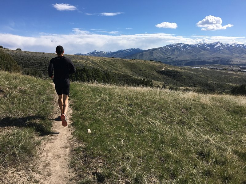 Great views of Pocatello from the Roosevelt Trail.