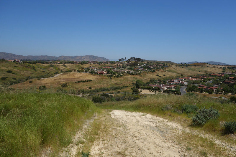 Black Mountain Ranch Village can be seen from the power line section of the Lusardi Creek Loop Trail.