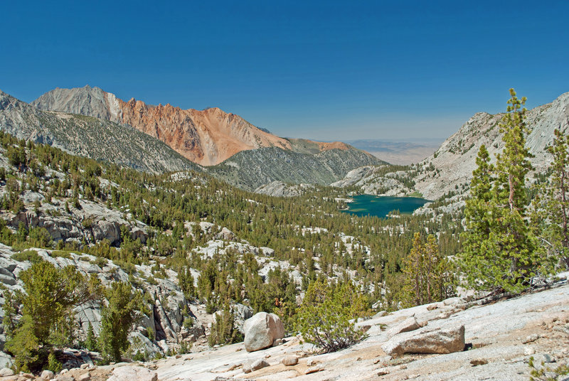 Piute Crags and Blue Lake.