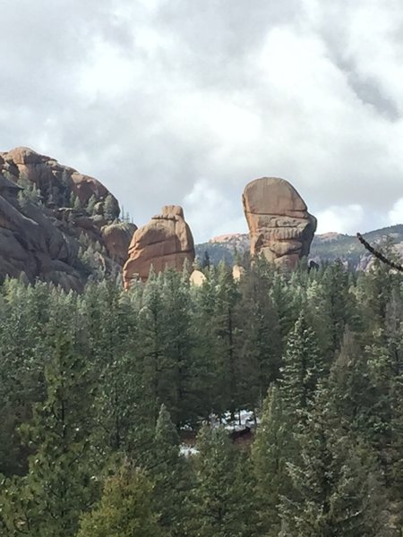 More unique rock formations that can be seen from the Goose Creek Trail.