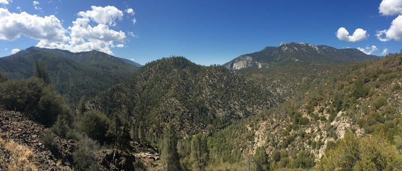 Great views down in to the Kern River.