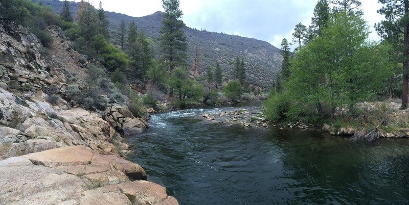 A peaceful pool on the Kern River.