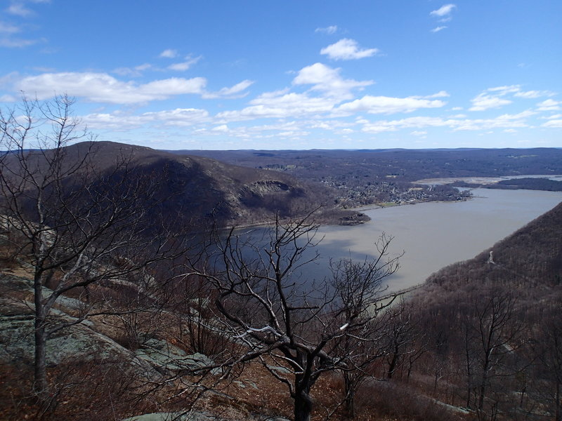 From up on the ridge, the view to the south is a beautiful look at the Hudson Valley.