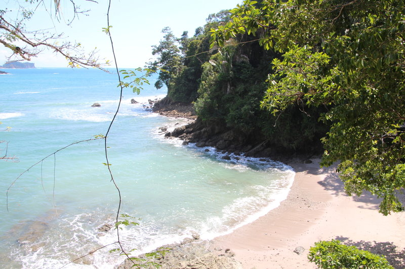 A small beach before reaching Playa Manuel Antonio.
