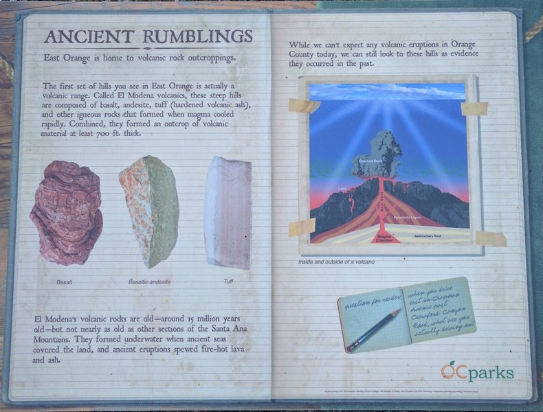 Plenty of geological information awaits on the park kiosk for those who are interested.