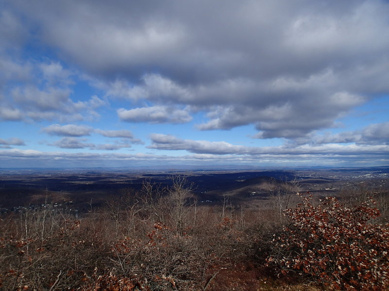 The view west from the ridge can be expansive on a clear day.