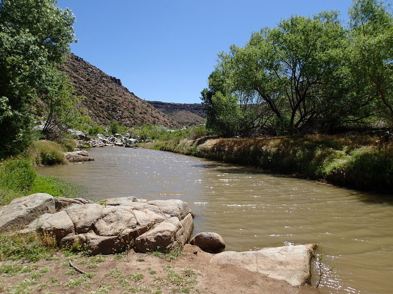 Water flows toward the right fork of Badger Spring.