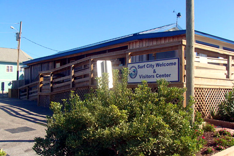 Stop in for local information and restrooms at the Surf City Welcome Center.