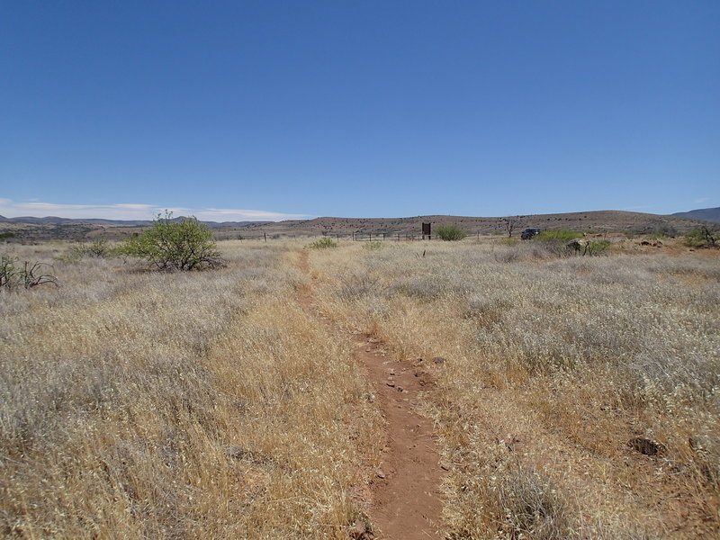 The trail to the ruins offers great views along the way.