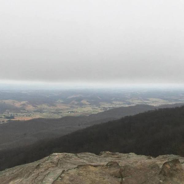 View from White Rocks of southwestern Virginia.