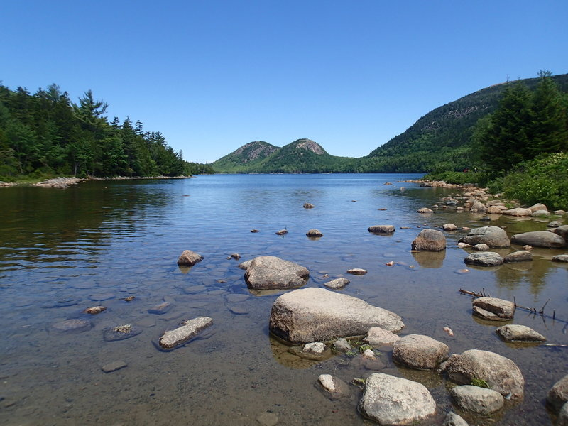 Jordan Pond is gorgeous from its southern end.