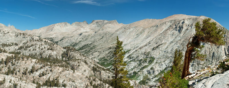 Kern-Kaweah Canyon looking towards Colby Pass, Table Mt. and Kern Point for south end of Red Spur.