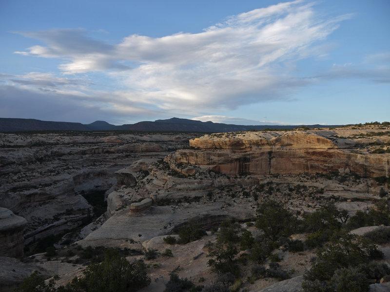 Enjoy great desert views near Sipapu Natural Bridge.