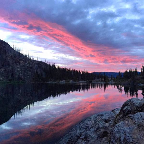 The key perk of backpacking? Front row seats to sunrises.