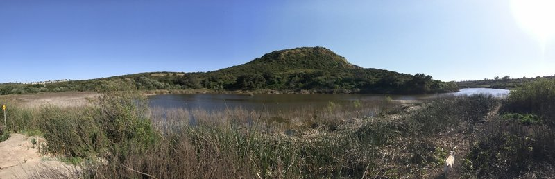 Calavera Lake is a pleasant sight any time of year.
