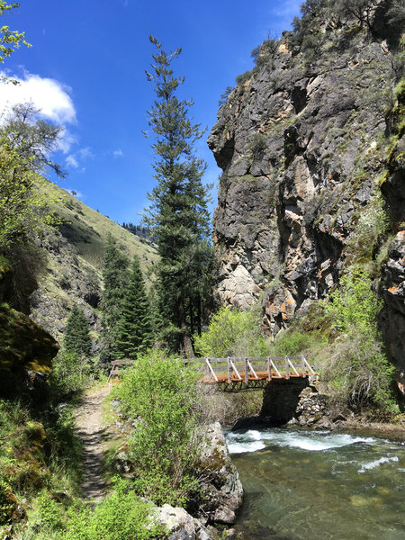 The second bridge on the West Fork Rapid River Trail.