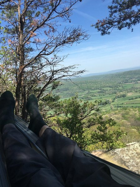 Brady Bluff offers a great overlook of Grassy Cove, TN.