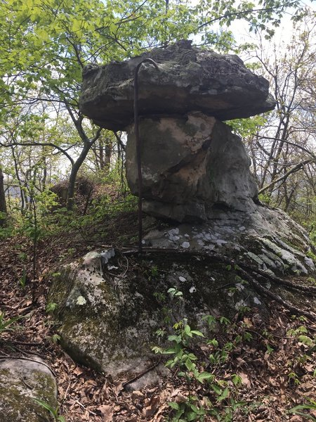 Near the top of the mountain, be sure to check out these cool rock features!
